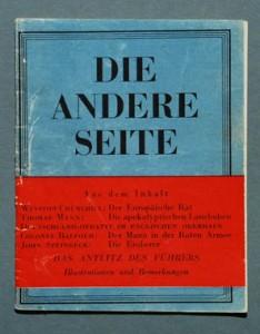 Kriegsflugblatt mit einem Beitrag von Thomas Mann, 1943 © Foto H.-P.Haack, Privatbesitz, via Wikimedia CC BY 3.0