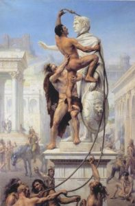 Eroberung Roms durch die Barbaren: Joseph-Noël Sylvestre: Le Sac de Rome, 1980.